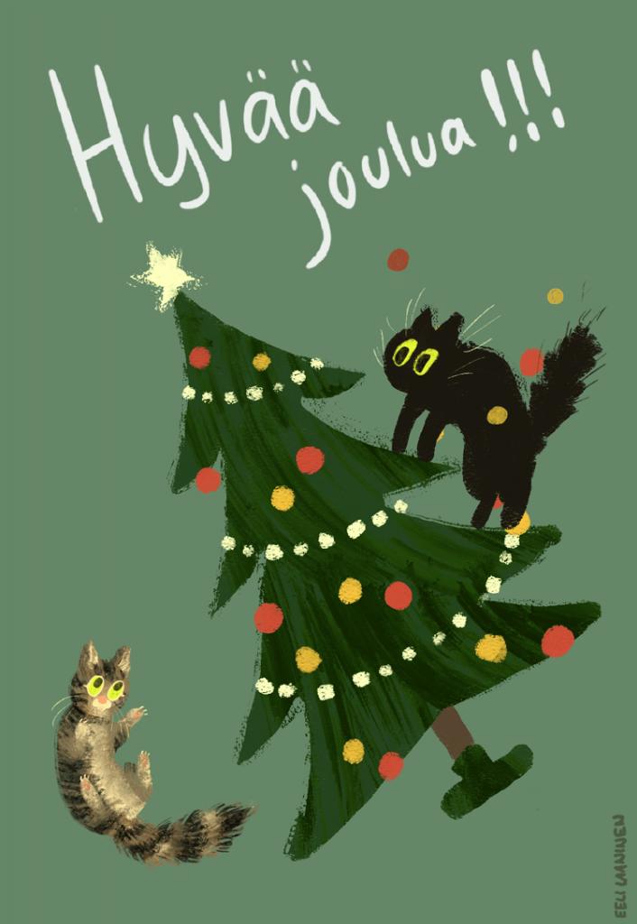 Kissat_joulukuusi_pieni